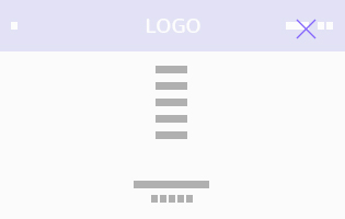 Overly menu-logo in middle
